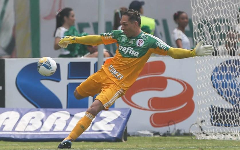 Fernando Prass falou após vitória sobre o Botafogo-SP. (Cesar Greco/Ag. Palmeiras/Divulgação)