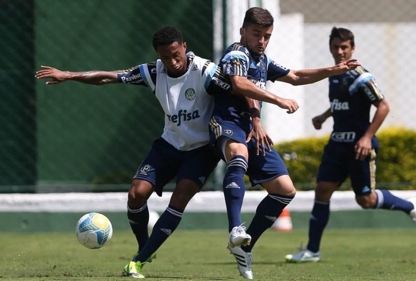Além de Renato e Victor Luis, contará com as revelações da base Nathan e João Pedro. (Cesar Greco/Ag. Palmeiras/Divulgação)