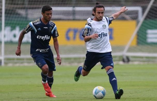 Cleiton Xavier e Valdivia começarão no banco as quartas (Cesar Greco/Ag. Palmeiras/Divulgação)