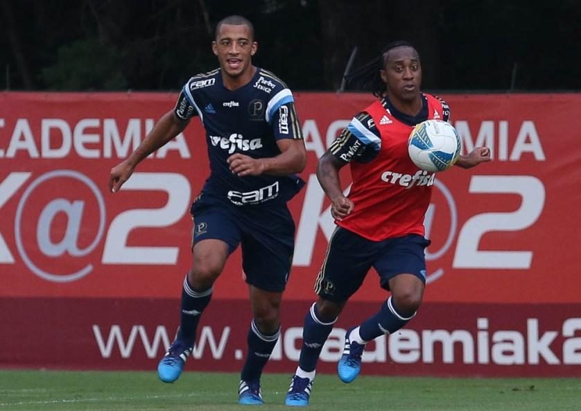 Vitor Hugo e Zé Roberto fazem parte da renovação da defesa palmeirense em 2015. (Cesar Greco/Ag. Palmeiras/Divulgação)