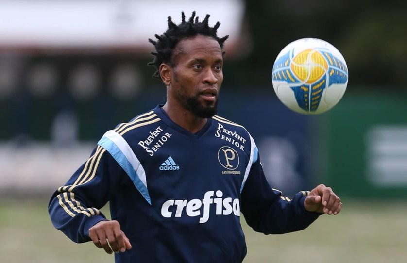 Zé Roberto volta a treinar com bola após se recuperar de lesão (Cesar Greco/Ag Palmeiras/Divulgação)