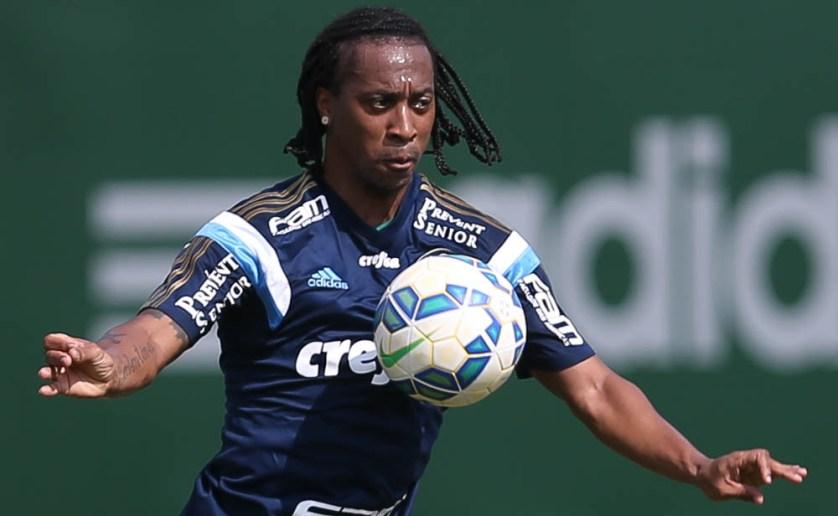 Recuperado, Arouca atuou na defesa por aproximadamente uma hora e meia. (Cesar Greco/Ag. Palmeiras/Divulgação)