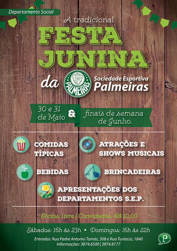 Festa Junina do Palmeiras começa neste final de semana. (Divulgação)