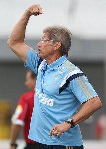 Oswaldo mostrou otimismo com a evolução do grupo nas competições de 2015. (Cesar Greco/Ag. Palmeiras/Divulgação)
