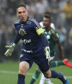 Na semifinal, o goleiro brilhou ao defender duas cobranças de pênalti. (Cesar Greco/Ag. Palmeiras/Divulgação)