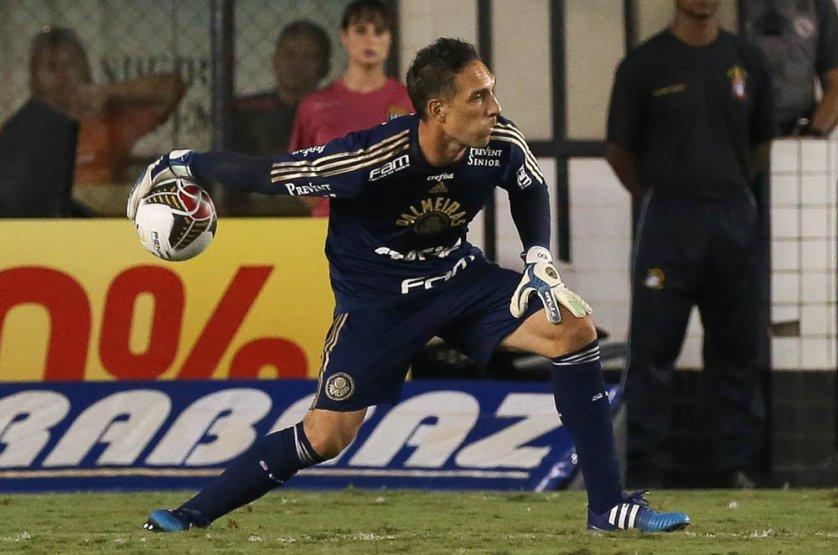 Fernando Prass destacou a evolução do time apesar do revés na final. (Cesar Greco/Ag. Palmeiras/Divulgação)