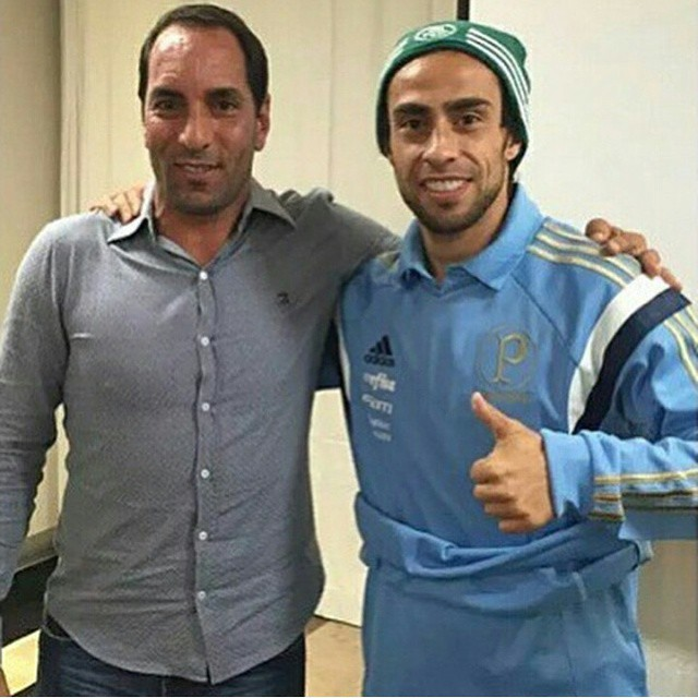 Valdivia e Edmundo na concentração do Palmeiras. (Reprodução/Instagram)