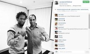 Zé Roberto agradeceu o ídolo Animal. (Reprodução/Instagram)