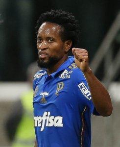Camisa 11 chegou a marca de três gols em 18 jogos com a camisa alviverde. (Cesar Greco/Ag. Palmeiras/Divulgação)
