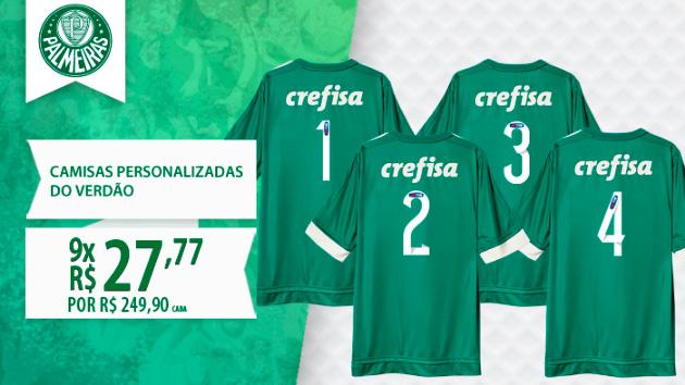 Imagem no site oficial do Palmeiras brinca com o largo placar aplicado no rival. (Reprodução)