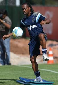 Elenco realizou trabalho físico na manhã desta terça-feira (23). (Cesar Greco/Ag. Palmeiras/Divulgação)