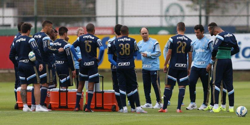 Marcelo comandou sua primeira atividade no Verdão nesta terça, 16. (Cesar Greco/Ag. Palmeiras/Divulgação)