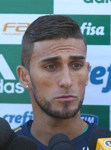 Rafael Marques tem nove gols anotados neste ano com a camisa do Verdão. (Cesar Greco/Ag. Palmeiras/Divulgação)