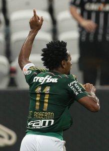 Zé comemora o gol que lhe rendeu a quebra da marca que durava três anos. (Cesar Greco/Ag. Palmeiras/Divulgação)