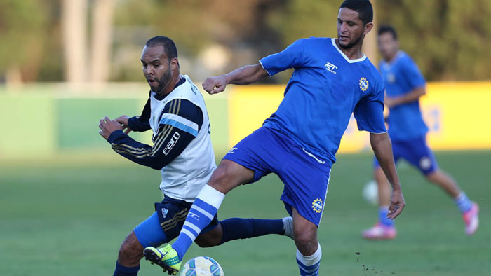 Alecsandro marcou duas vezes em jogo treino. (Cesar Greco/Ag. Palmeiras/Divulgação)