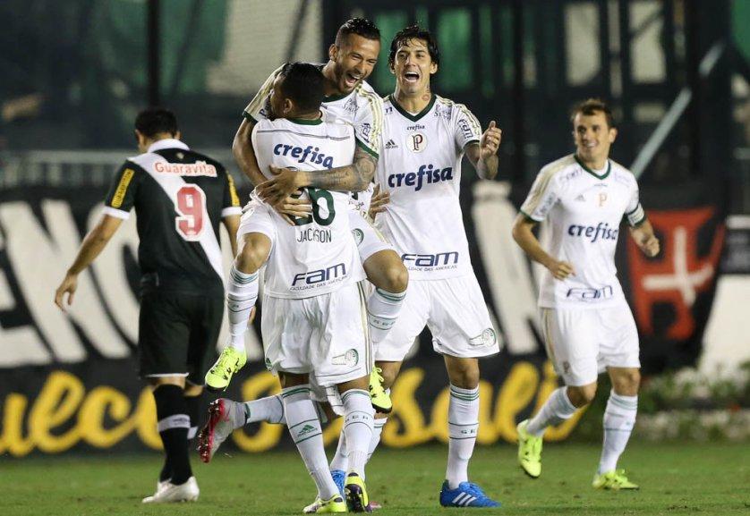 Leandro Pereira marcou dois gols na goleada. (Cesar Greco/Ag.Palmeiras/Divulgação)