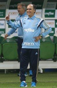 Marcelo Oliveira conquistou sua segunda vitória à frente do Palmeiras. (Cesar Greco/Ag. Palmeiras/Divulgação)