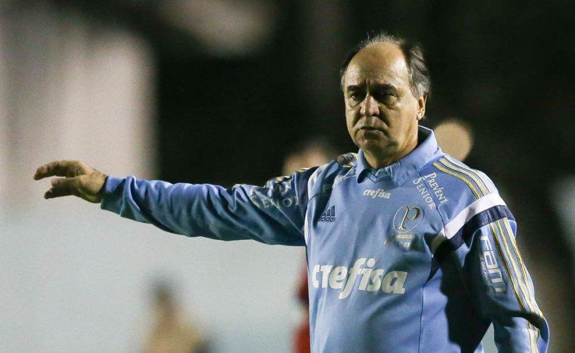 Marcelo Oliveira destacou a dificuldade do jogo e a atuação do time. (Cesar Greco/Ag.Palmeiras/Divulgação)