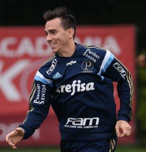 Mouche treinou e foi relacionado para enfrentar o Vasco. (Cesar Greco/Ag. Palmeiras/Divulgação)