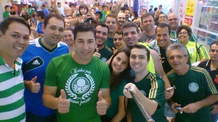 Sérgio compareceu a evento na Academia Store de Catanduva-SP. (Divulgação)