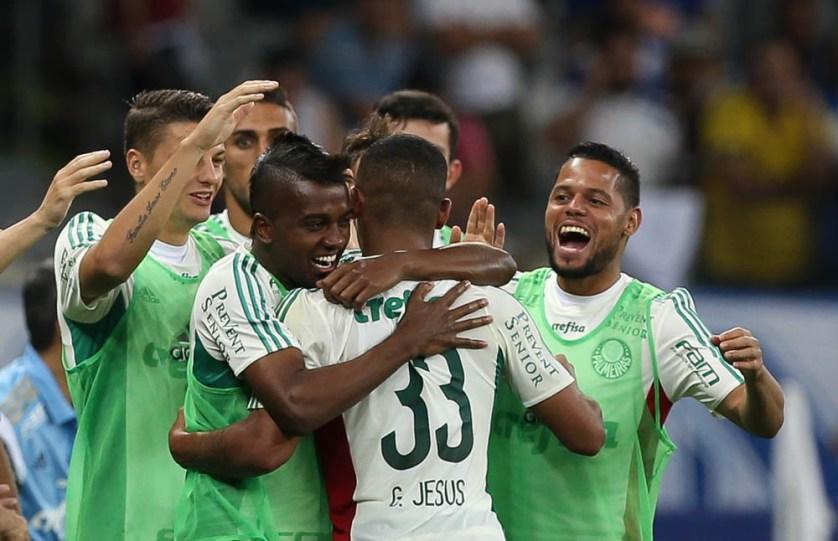 Gabriel Jesus foi o destaque do jogo com 2 gols e 1 assistência. (César Greco/Ag.Palmeiras/Divulgação)