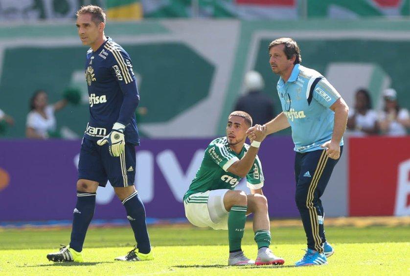 Gabriel foi substituído na partida contra Atlético-PR. (Cesar Greco/Ag.Palmeiras/Divulgação)