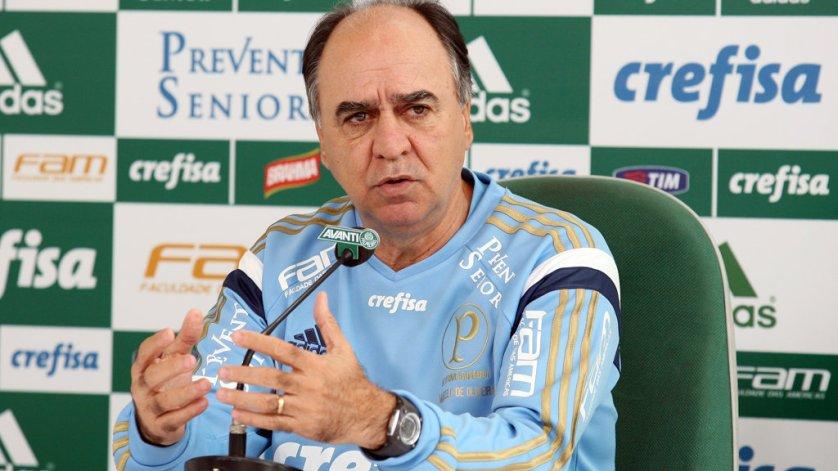 Marcelo Oliveira concedeu entrevista coletiva na Academia de Futebol nesta sexta (4). (Cesar Greco/Ag.Palmeiras/Divulgação)