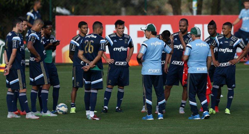Palmeiras trabalhou no CT do Atlético-MG nesta segunda (10). (Cesar Greco/Ag.Palmeiras/Divulgação)