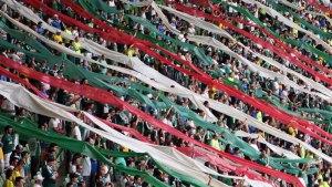 A torcida alviverde lotou o Allianz Parque em 2015 e é uma das forças do Palmeiras para o ano. (Cesar Greco/Ag. Palmeiras/Divulgação)