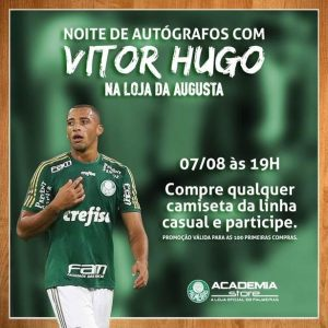 Vitor Hugo estará na Academia Store da Rua Augusta, nesta sexta-feira (07), a partir das 19 horas. (Divulgação)