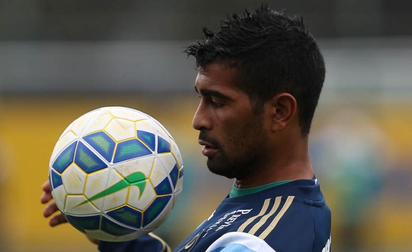 Thiago Santos fez grande partida contra o Figueirense no final de semana. (Cesar Greco/Ag. Palmeiras/Divulgação)