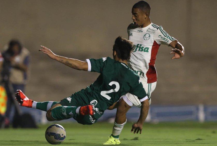 Gabriel Jesus foi mais uma vez titular do Verdão nesta quarta (2). (Cesar Greco/Ag.Palmeiras/Divulgação)