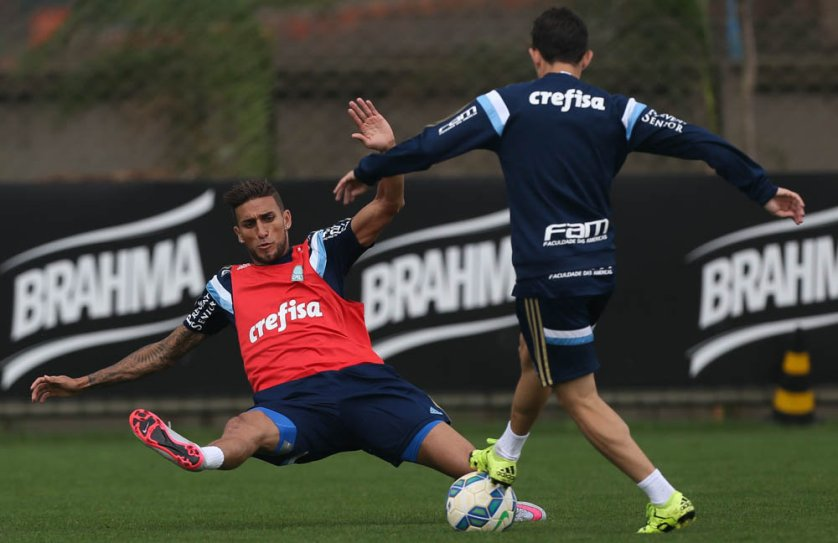Os reservas realizaram exercícios de força na sala de musculação. (Cesar Greco/Ag. Palmeiras/Divulgação)