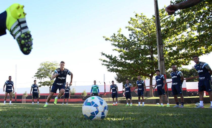 Verdão encerrou preparação no CT do Atlético-GO. (Cesar Greco/Ag. Palmeiras/Divulgação)