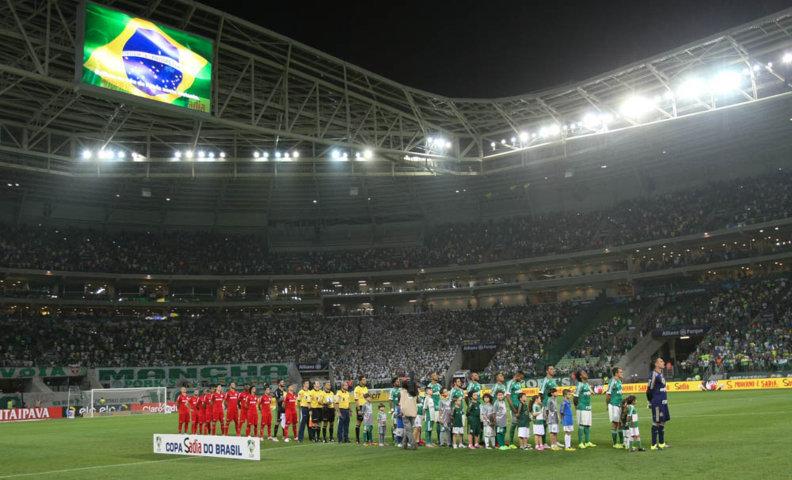 Torcida alviverde empurrou o time para a vitória no Allianz Parque lotado. (Cesar Greco/Ag. Palmeiras/Divulgação)