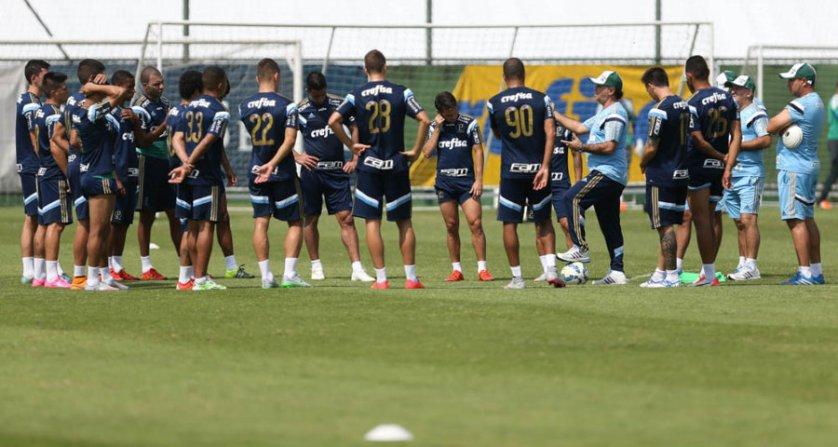 Comissão técnica relacionou 22 jogadores para encarar o Avaí neste sábado. (Cesar Greco/Ag. Palmeiras/Divulgação)