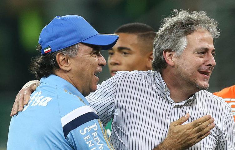 'Agradeço a torcida do Palmeiras por tudo o que fizeram durante os 90 minutos de cada jogo', disse o presidente do Verdão, Paulo Nobre. (Cesar Greco/Ag. Palmeiras/Divulgação)