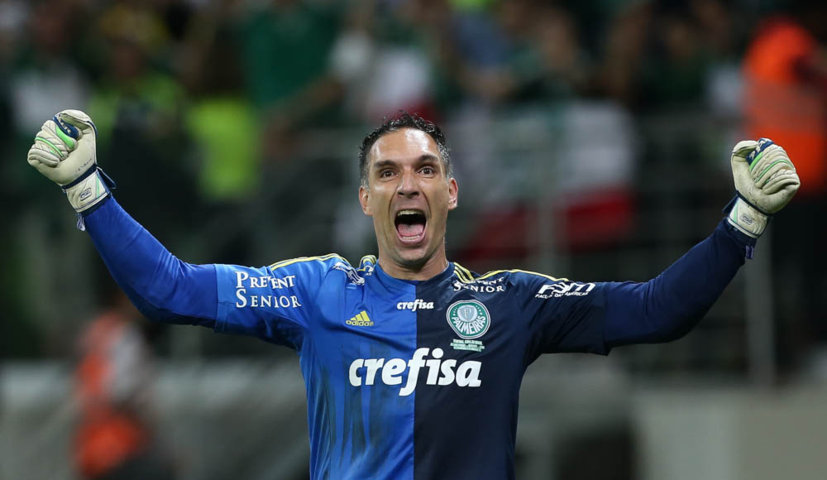 Fernando Prass foi decisivo durante os 90 minutos e nos pênaltis para a classificação do Verdão no Allianz Parque. (Cesar Greco/Ag.Palmeiras/Divulgação)