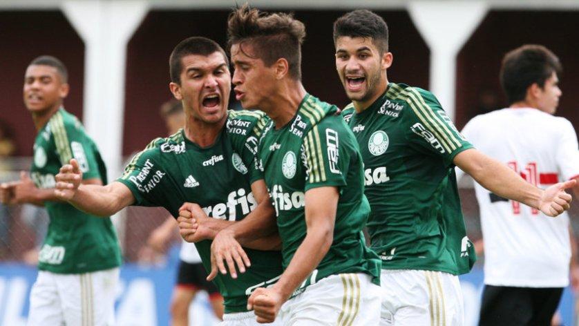 A equipe Sub-17 do Palmeiras venceu a partida pelo placar de 2 a 0. (Fabio Menotti/Ag. Palmeiras/Divulgação)
