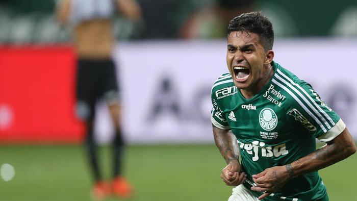 Um dos destaques da final, com dois gols, Dudu foi fundamental na conquista do título. (Cesar Greco/Ag. Palmeiras/Divulgação)
