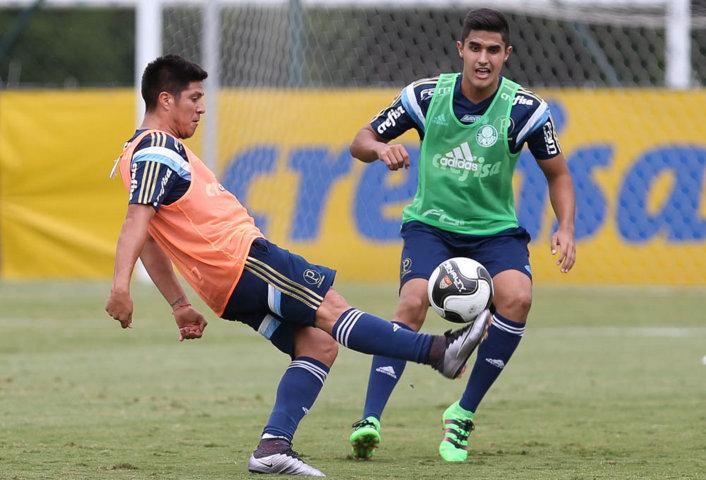 Cristaldo enfrentou o Oeste na quarta (10) e treinou nesta quinta (11). (Cesar Greco/Ag.Palmeiras/Divulgação)