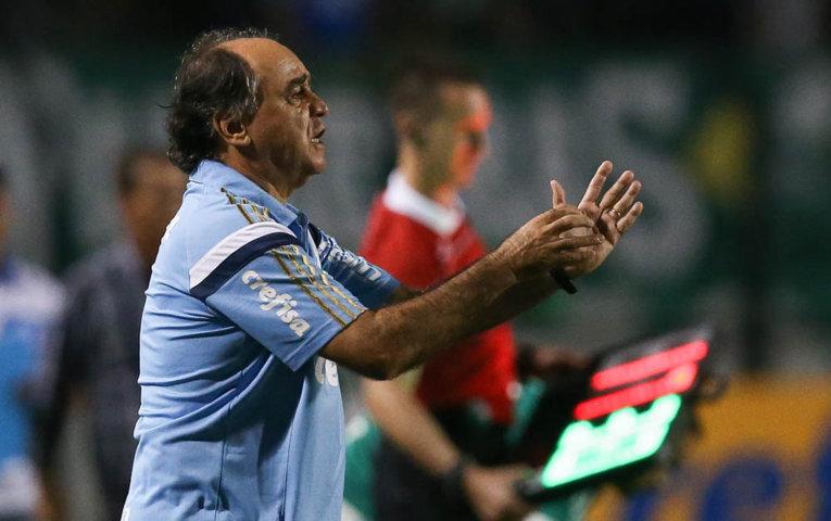Marcelo Oliveira não ficou satisfeito com a oscilação do time durante a partida contra o São Bento. (Cesar Greco/Ag. Palmeiras/Divulgação)