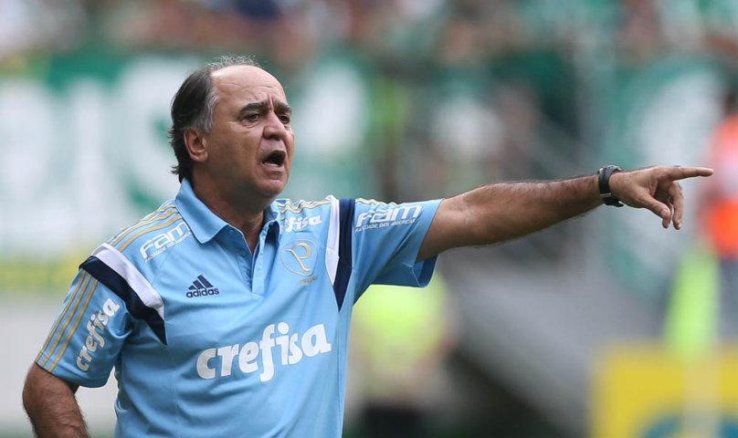 'Somos todos responsáveis por este momento de derrota, ainda mais eu como técnico', disse Marcelo Oliveira após a partida. (Cesar Greco/Ag. Palmeiras/Divulgação)