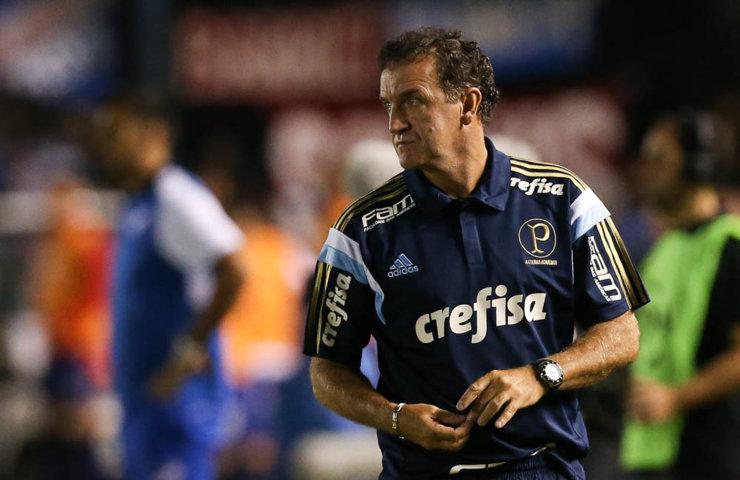 O técnico Cuca elogiou a postura do time no segundo tempo. (Cesar Greco/Ag. Palmeiras/Divulgação)