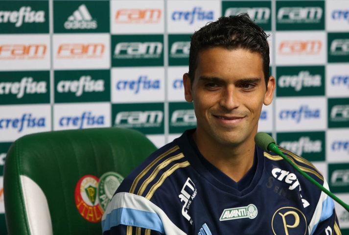 Jean tem seis partidas e um gol anotado com a camisa do Verdão. (Cesar Greco/Ag.Palmeiras/Divulgação)