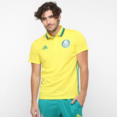 A nova camisa amarela polo de viagem do Palmeiras. Preço R$ 179,99 ou em até 7x de R$ 25,71. (Divulgação)