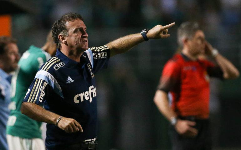 Cuca venceu primeira partida à frente do Verdão. (Cesar Greco/Ag.Palmeiras/Divulgação)