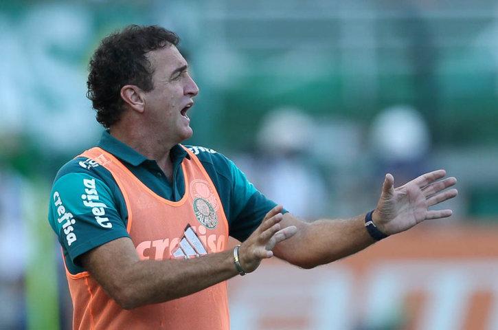 Cuca aprovou dedicação e entrega tática do time do clássico deste domingo (03). (Cesar Greco/Ag.Palmeiras/Divulgação)