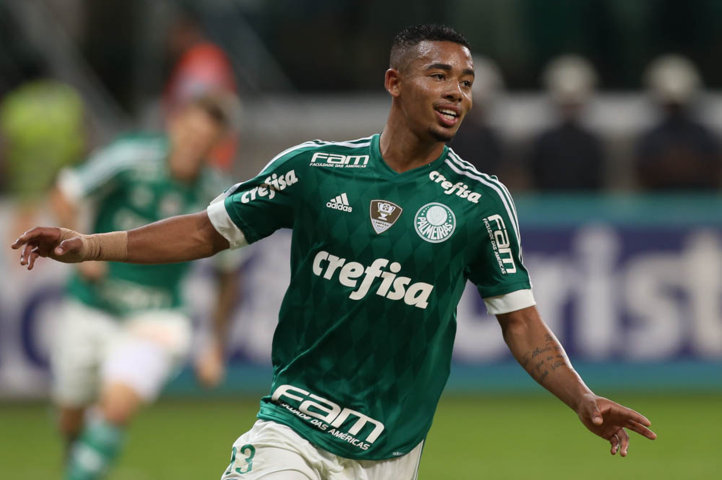 Gabriel Jesus marcou o segundo gol na vitória sobre o São Bernardo. (Cesar Greco/Ag.Palmeiras/Divulgação)