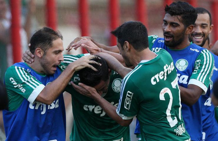Com a vitória, Palmeiras chegou a 24 pontos e terminou a 1ª fase na liderança do Grupo B. (Cesar Greco/Ag.Palmeiras/Divulgação)